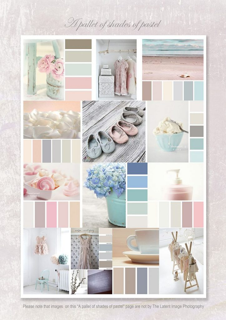 Newborn photo shoot colour ideas